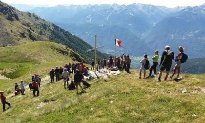 Gli Alpini di Teglio in cammino fino al Meden