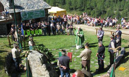 Albosaggia, raduno alpino al Lago della Casera