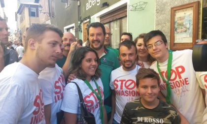 Il segretario della Lega Nord Salvini a Bormio