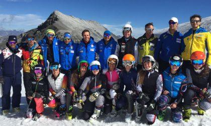 Sci alpino: concluso lo stage allo Stelvio per le ragazze