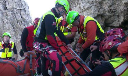 Escursionisti precipitati in Valmalenco, soccorsi in azione