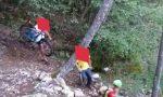 Biker bloccato in Val Fontana