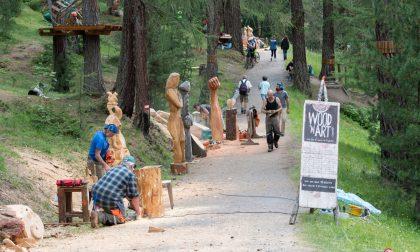 Livigno, si arricchisce il sentiero d'arte nel bosco