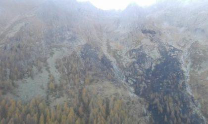 L'incendio sviluppatosi in Val Codera si è spento da solo