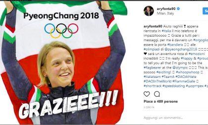 Arianna Fontana conferma: sarà portabandiera dell'Italia alle Olimpiadi