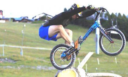 Il funambolo di Delebio sulle due ruote è Alessandro Bertola