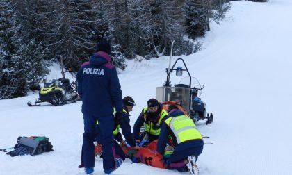 Quattro gravi incidenti sulle piste da sci della Valtellina