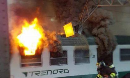 Brucia treno per Tirano