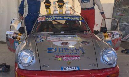 Da Zanche festeggia sul podio del Monza Rally Show