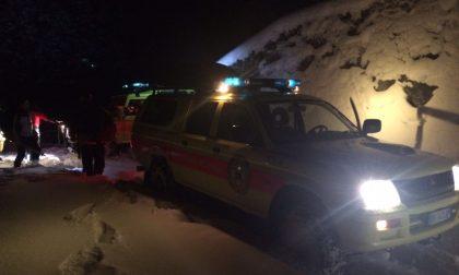 Incidente con il bob sulla neve, lesioni alla colonna vertebrale per un 42enne