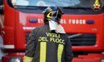 Autobus in fiamme in Valmalenco