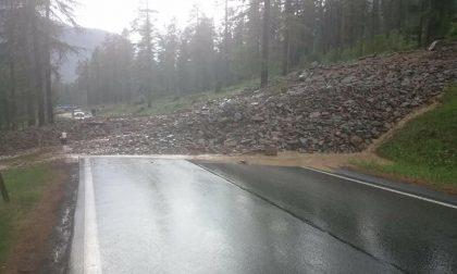 Frana sulla strada del Passo Bernina