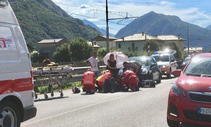 Incidente stradale sulla Statale 38, grave centauro