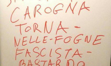 Vandali in azione contro Matteo Salvini