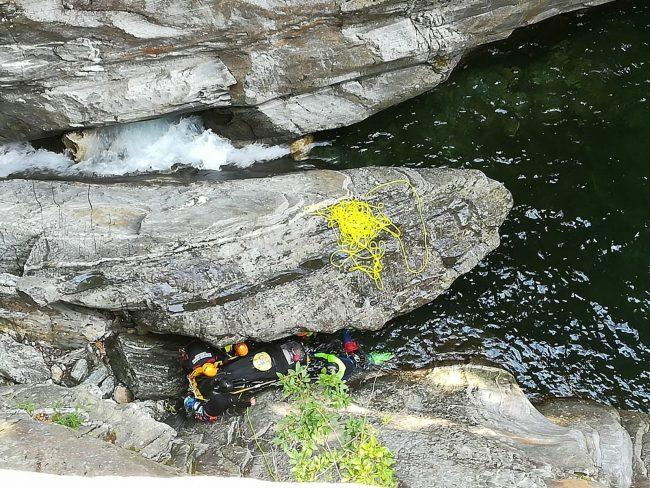 Ferito mentre praticava canyoning in Val Bodengo