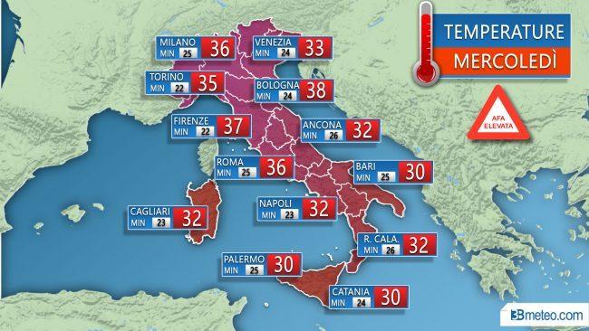 ROMA. Ministero Salute, bollino rosso per caldo in varie città