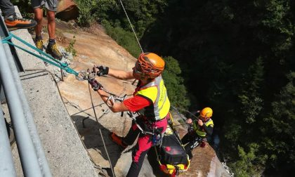 Escursionista ferito mentre fa canyoning