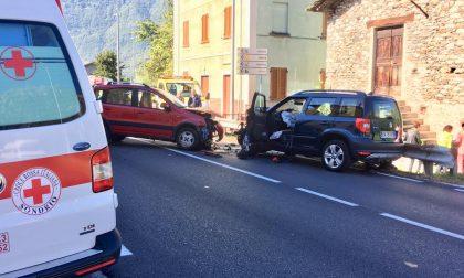 Frontale sulla 36 a Prata Camportaccio