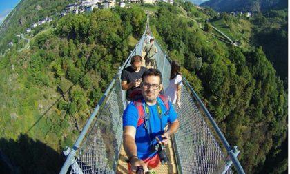 Il selfie è d'obbligo sul Ponte nel Cielo FOTO e VIDEO