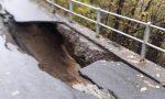 Ponte in Valtellina, strada crolla per le forti piogge