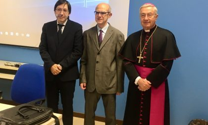 Monsignor Bruguès al Piazzi Perpenti di Sondrio
