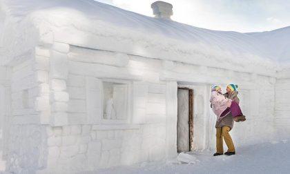 Chalet fatto di neve, a Livigno un'esperienza unica VIDEO