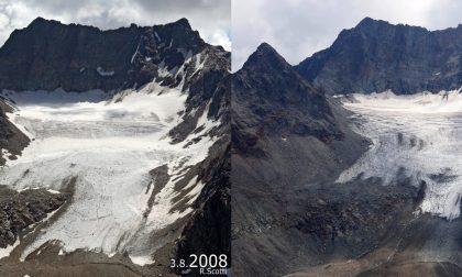 #10yearschallenge, la cruda realtà del cambiamento climatico in Valtellina FOTO