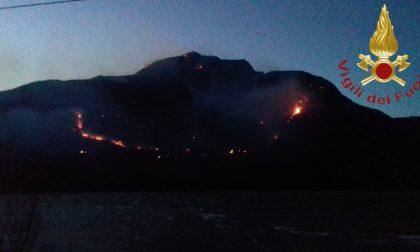 Rischio incendi boschivi codice arancione sul Lario