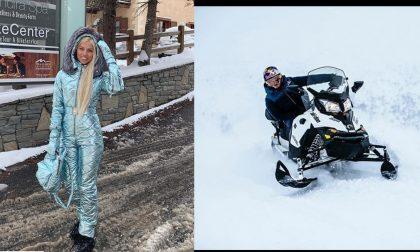 Andrea Dovizioso e Miss Russia on Earth a Livigno FOTO