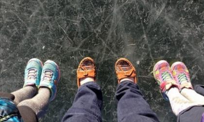Carlazzo lago ghiacciato utilizzato per pattinare la nota del Codacons