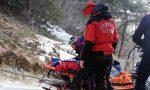 Si infortuna facendo scialpinismo, salvato dal Soccorso Alpino