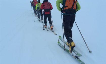 Alpinisti bloccati a Montespluga