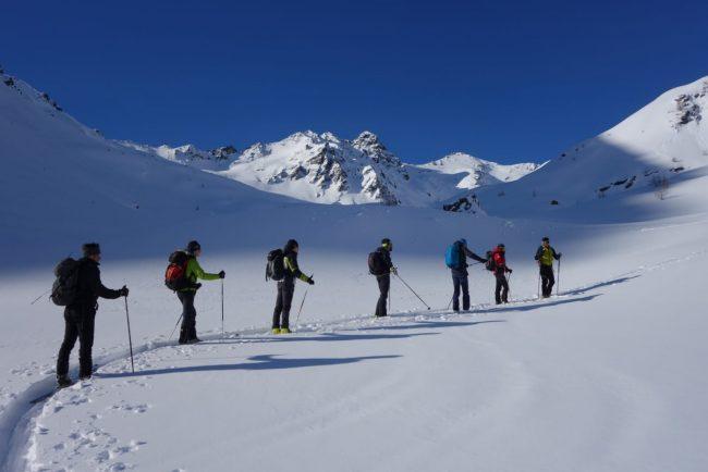 Montagna d&#8217&#x3B;inverno e sci alpinismo: esercitazione in Alta Valtellina