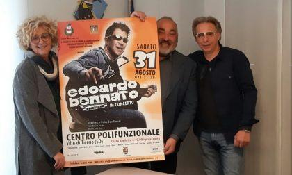 Concertoo di Edoardo Bennato a VIlla di Tirano