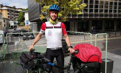 Elezioni Europee 2019, il candidato ciclista è arrivato a Sondrio