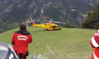 Escursionista infortunata in Valmasino, arriva l'elicottero