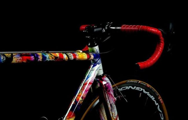 Un raduno a Livigno con le bici firmate da Dario Pegoretti