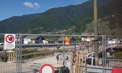 Villa, proseguono i lavori del ponte provvisorio