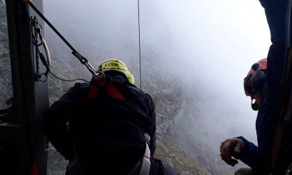 Escursionista cade sul Legnone, interviene l'elicottero
