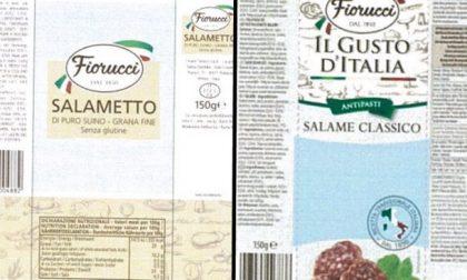 Ministero segnala ritiro lotti di salame e salametto Fiorucci