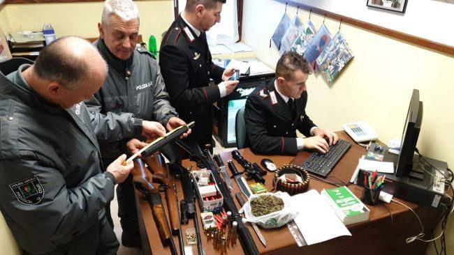 Armi illegali, bracconaggio e stupefacenti: in  manette due uomini di Cremia