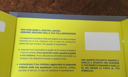 """Anche in Provincia di Sondrio """"Etichetta la cassetta"""" per agevolare i postini"""