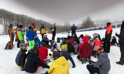 Studenti valchiavennaschi a scuola sulla neve