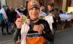 Autoisolamento: Damiano corre un'intera maratona in giardino