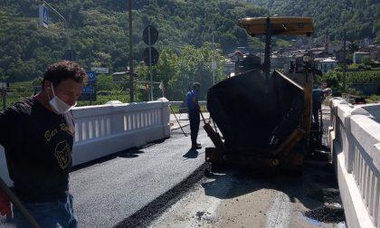 Domani riapre il ponte di Stazzona