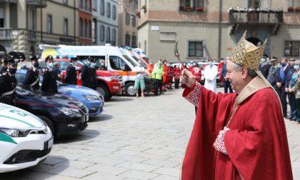 Coronavirus: il Vescovo a Sondrio per ringraziare i nostri eroi FOTO