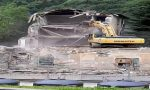 Demolito l'ex Hotel Posta a Campodolcino VIDEO