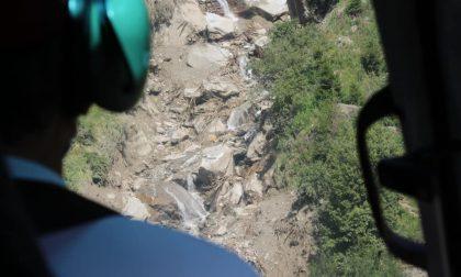 Sopra la frana a Chiareggio, il video del disastro