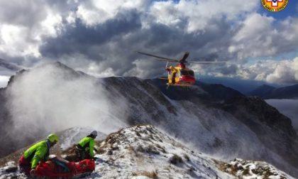 Alpinista ferito sul Pizzo dei Tre Signori FOTO