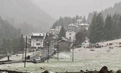 Maltempo in Valtellina: arrivano pioggia, grandine e neve FOTO VIDEO
